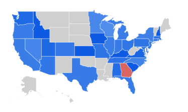 Google Trends - USA by state - Redshift - BigQuery